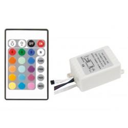 RUBAN A LEDS FLEXIBLE. CONTROLEUR ET ALIMENTATION EN KIT - RVB - 150 LEDs - 5 m - 12 Vcc