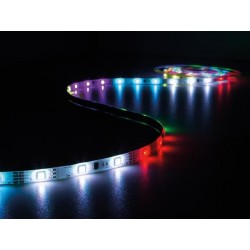 ENSEMBLE DE FLEXIBLE LED ANIME. CONTROLEUR ET ALIMENTATION - RVB - 150 LED - 5 m - 12 VCC