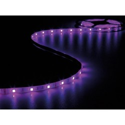 RUBAN A LED FLEXIBLE. CONTROLEUR ET ALIMENTATION - RVB - 150 LED - 5 m - 12 Vcc