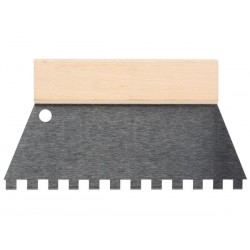 SPATULE A COLLE - 250 mm - DENTS 10 x 10 mm