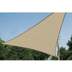 VOILE SOLAIRE PERMEABLE - TRIANGLE - 3.6 x 3.6 x 3.6 m - COULEUR : CHAMPAGNE