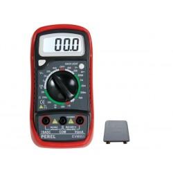 MULTIMETRE NUMERIQUE LCD 3 1/2 - 10 A / FONCTION MEMOIRE / RETRO-ECLAIRAGE