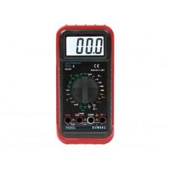 MULTIMETRE NUMERIQUE LCD 3 1/2 - 24 GAMMES / 10 A / SONDE TEMPERATURE / CAPACITE / FREQUENCE