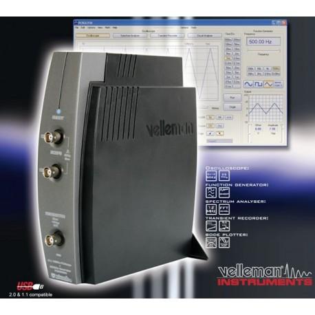 OSCILLOSCOPE A 2 CANAUX POUR PC AVEC CONNEXION USB GENERATEUR