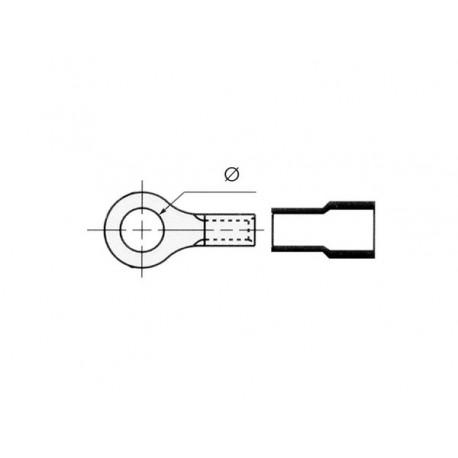 COSSE A OEIL 4.3mm - JAUNE