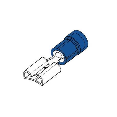 COSSE FEMELLE 6.4mm BLEU