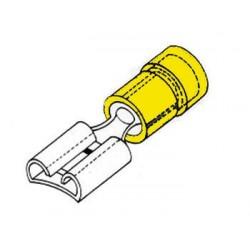COSSE FEMELLE 6.4mm JAUNE