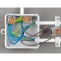 ADAPTATEUR DE FIXATION POUR CONNECTEURS DE 2 A 5 POLES. ORANGE - 1 pièce