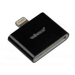 ADAPTATEUR POUR iPHONE 5 - APPLE 30 BROCHES FEMELLE vers LIGHTNING MALE 8 BROCHES - NOIR