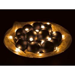 GUIRLANDE A LED - FLOCONS DE NEIGE - BLANC CHAUD - 30 LEDS - ALIMENTEE PAR PILES