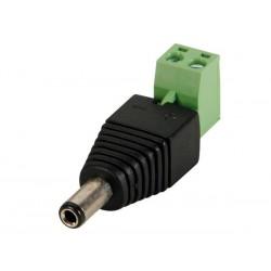 FICHE CC 5.5 x 2.5mm MALE VERS CONNEXION A VIS (5 pcs)