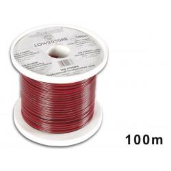 CABLE HAUT-PARLEUR CCA - 2 x 0.50mm² - ROUGE/NOIR - BOBINE : 100m