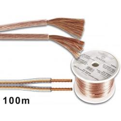 CABLE PROFESSIONNEL POUR ENCEINTES 2x1.50mm - TRANSPARENT