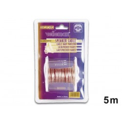 CABLE HAUT-PARLEUR - TRANSPARENT - 2 x 1.50mm² - 5m