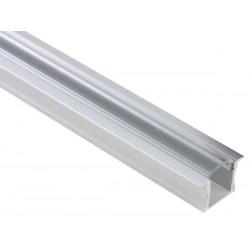 PROFILE EN ALUMINIUM POUR FLEXIBLES LED - 15MM - A ENCASTRER - 2M - DIFFUSEUR TRANSPARENT