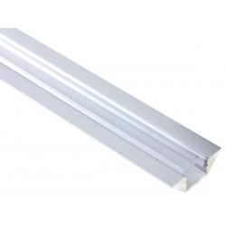 PROFILE EN ALUMINIUM POUR FLEXIBLES LED - ANGLE DE 45o - 2M - DIFFUSEUR TRANSPARENT