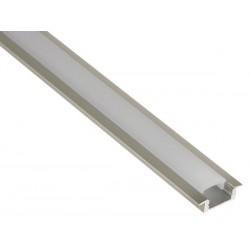 PROFILE EN ALUMINIUM POUR FLEXIBLES LED - A ENCASTRER - HAUTEUR 7 mm - 2m