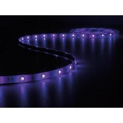 ENSEMBLE DE FLEXIBLE LED PILOTE PAR MUSIQUE. CONTROLEUR ET ALIMENTATION - RVB - 150 LED - 5 m - 12 VCC