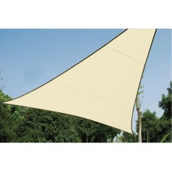 VOILE SOLAIRE PERMEABLE - TRIANGLE - 5 x 5 x 5 m - COULEUR : CHAMPAGNE