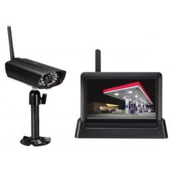 SYSTEME DE VIDEOSURVEILLANCE SANS FIL - 1 CAMERA - 4 CANAUX - MONITEUR TACTILE - SLOT SD
