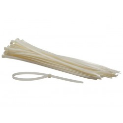 COLLIERS DE SERRAGE EN NYLON - 8.8 x 500 mm - BLANC (100 pcs)