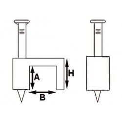 CLIP DE FIXATION PLAT. BLANC - 6 mm (100 pcs/boite)