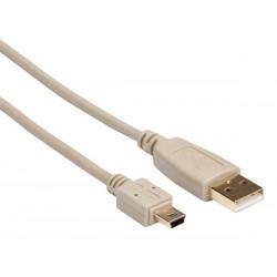 FICHE USB 2.0 A VERS FICHE MINI USB / CUIVRE / DE BASE / 0.75 m / DORE / M-M