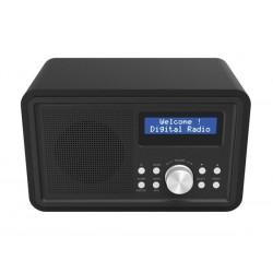 DAB-35BLACK - RADIO FM/DAB AVEC CAISSON EN BOIS - NOIR