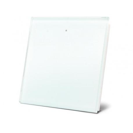 module de commande en finition verre avec touche tactile simple. blanc