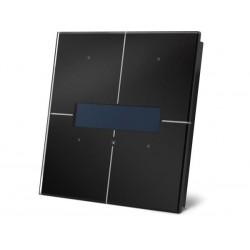 module de commande en finition verre a ecran OLED et avec controleur de temperature. noir