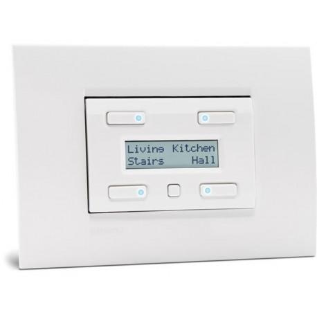 module de commande avec afficheur LCD configurable 32 fonctions et sauvegarde de l'heure et de la date. blanc