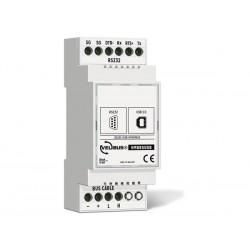 module de configuration avec interface USB et RS-232 pour rail DIN